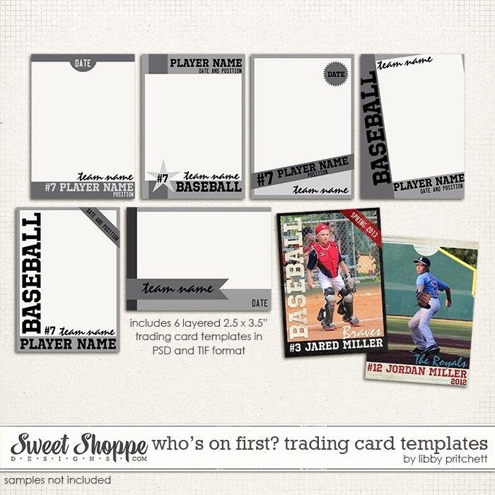 Printable Trading Card Template Beautiful Baseball Card Templates Digital Wishlist
