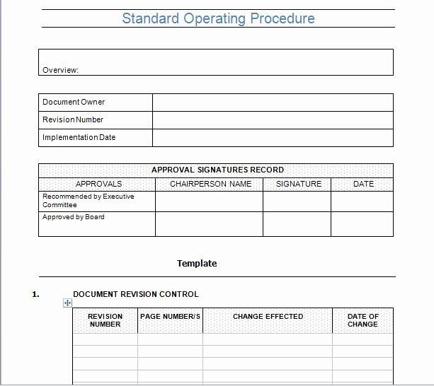 Procedure Templates Word Best Of 37 Best Standard Operating Procedure sop Templates