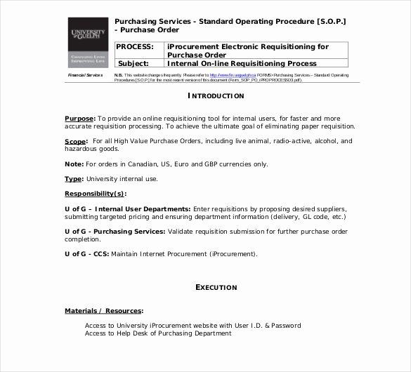 Procedure Templates Word New 13 Standard Operating Procedure Templates Pdf Doc