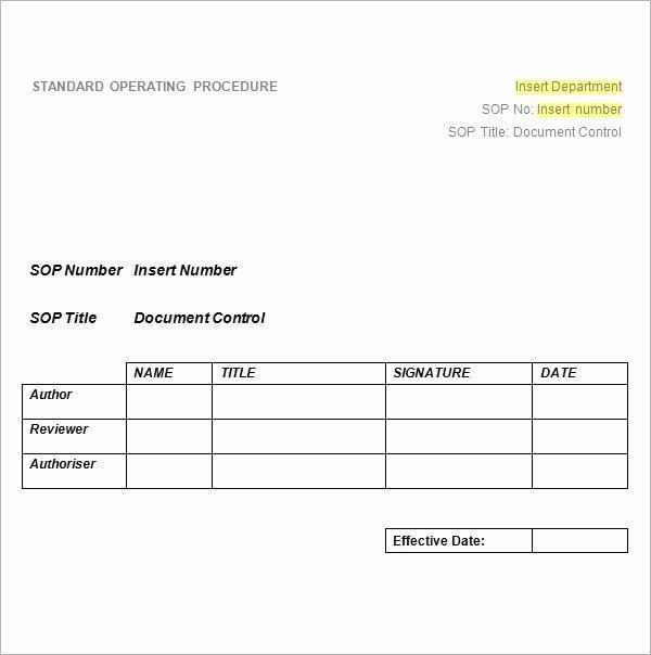 Procedure Templates Word New 22 Sample sop Templates Pdf Doc
