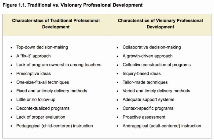 Professional Development Plan for Teachers Example Lovely Teacher Agency Self Directed Professional Development