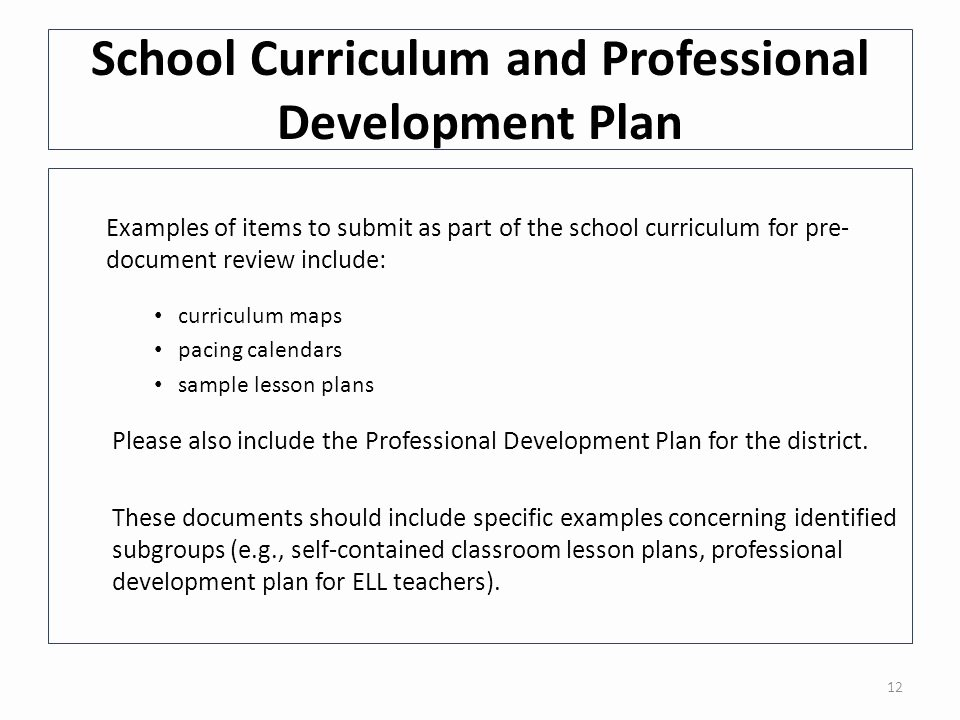 Professional Development Plan for Teachers Examples Fresh Diagnostic tool for School and District Effectiveness