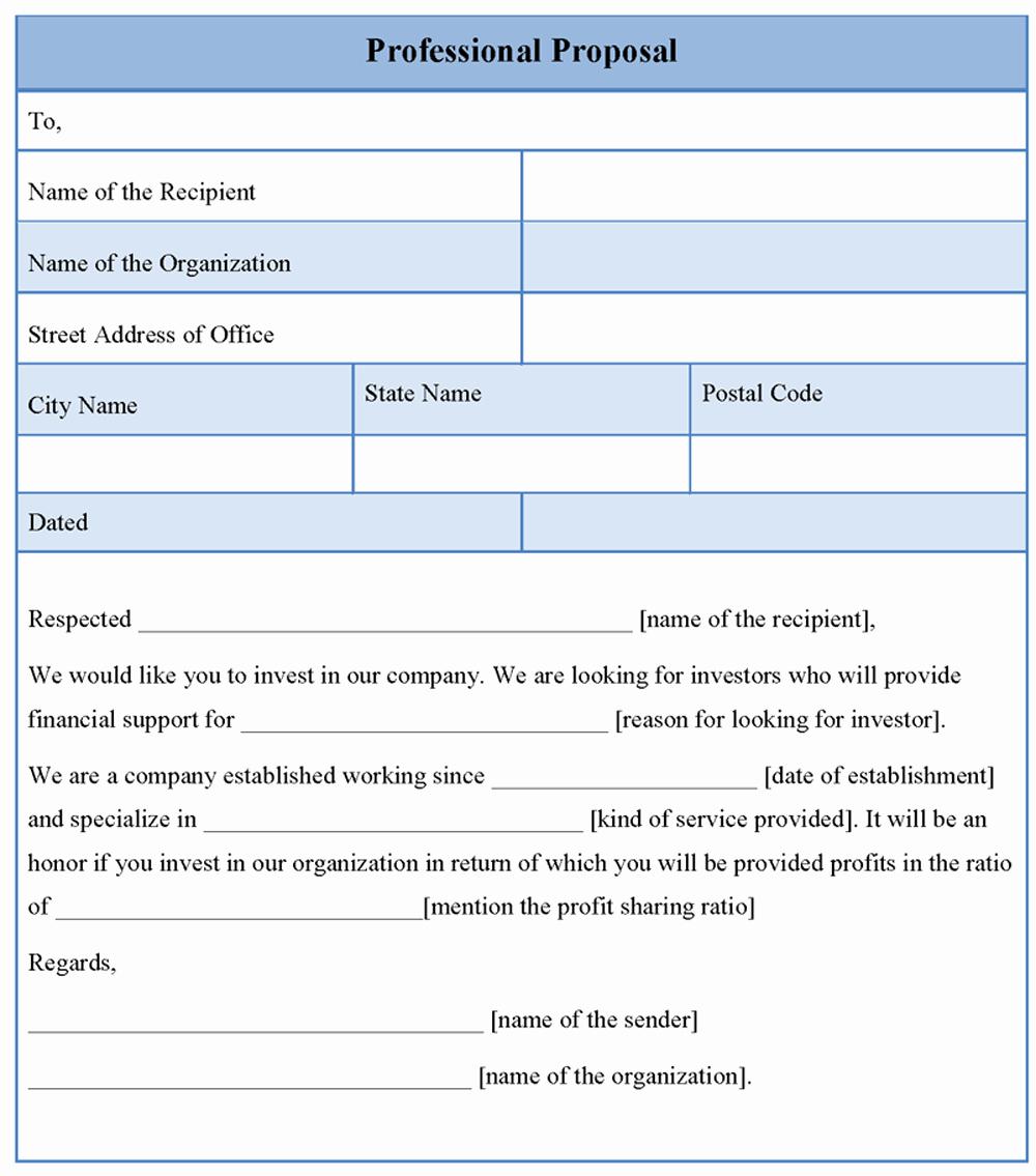 Professional Proposal Template Unique Proposal Template for Professional format Of Professional