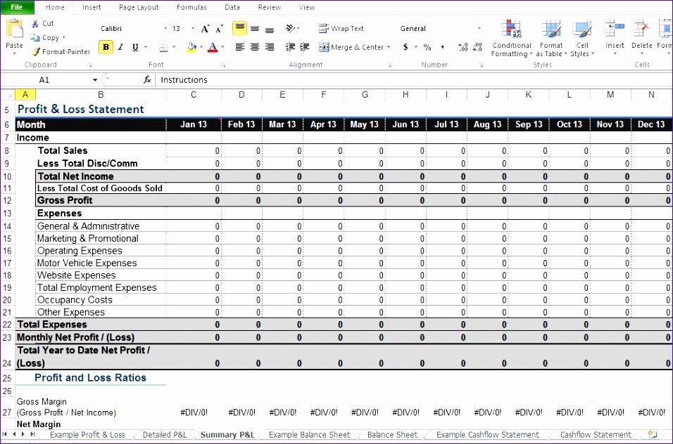 Profitability Analysis Template Elegant 9 Excel Profit and Loss Template Exceltemplates