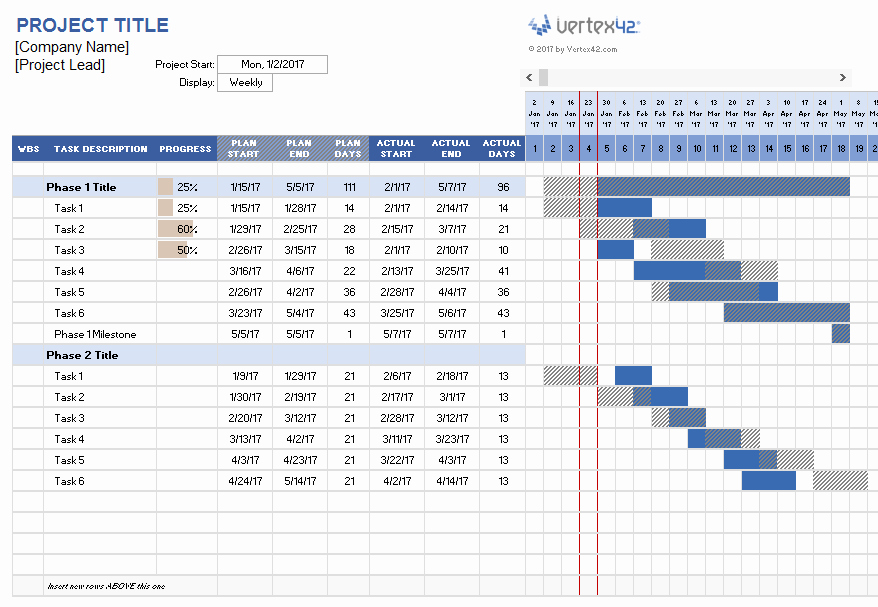 Project Plan Examples Excel Awesome Project Planner Template