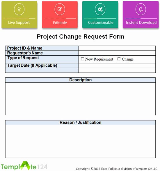 Project Request form Template Luxury Project Change Request Template Excel Word