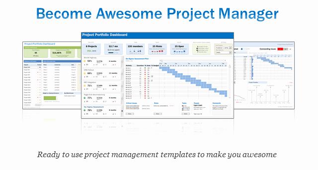 Project Status Template Excel Beautiful Excel Project & Portfolio Management Templates Download