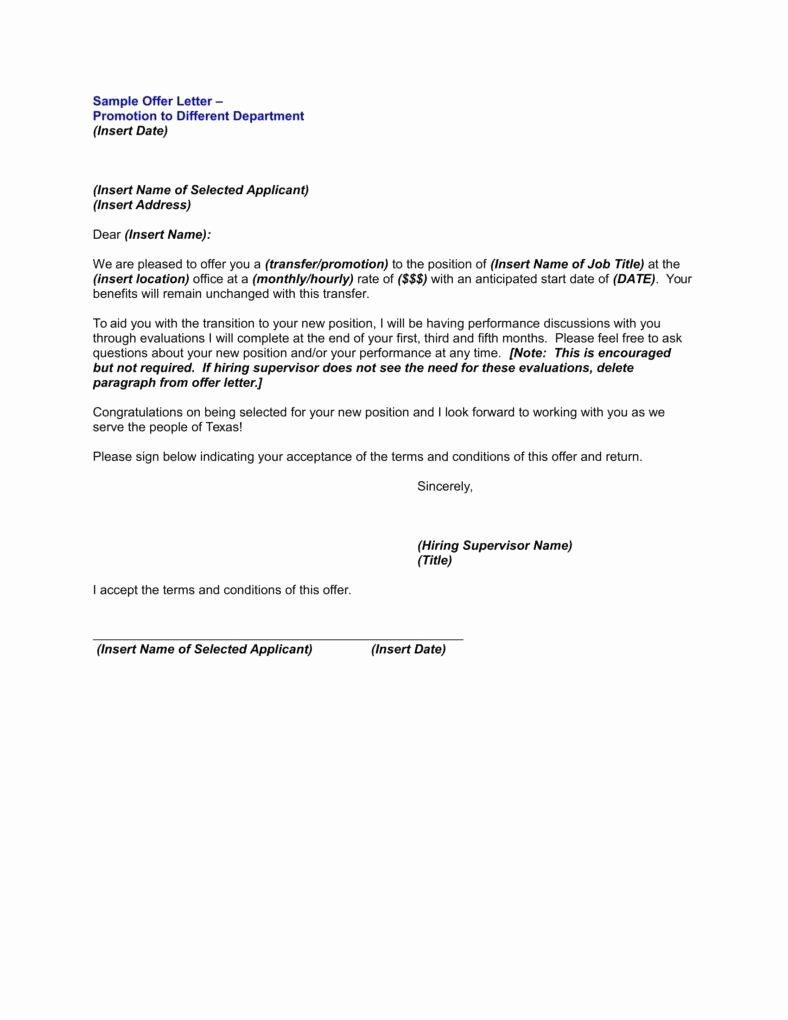 Promotion Announcement Samples Elegant 9 Promotion Announcement Letters