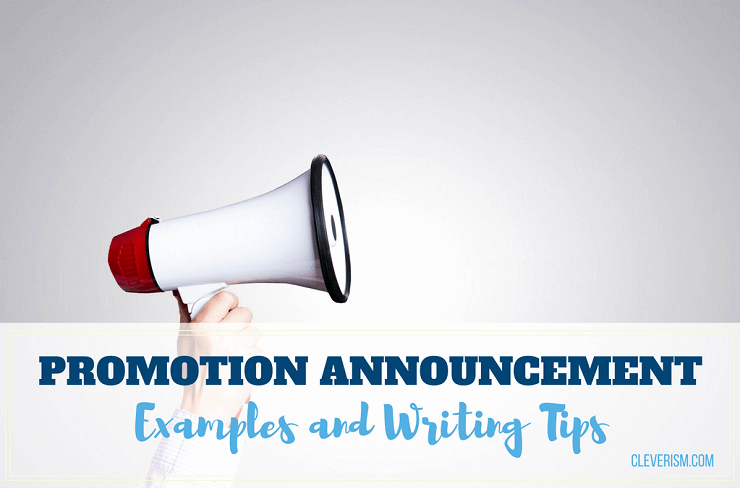 Promotion Announcement Samples Fresh Promotion Announcement Examples and Writing Tips