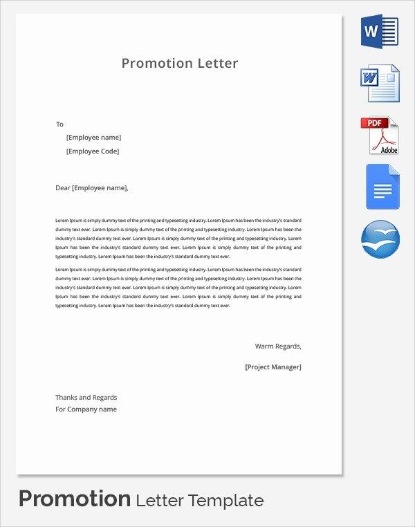 Promotion Announcement Template Luxury 17 Promotion Letters