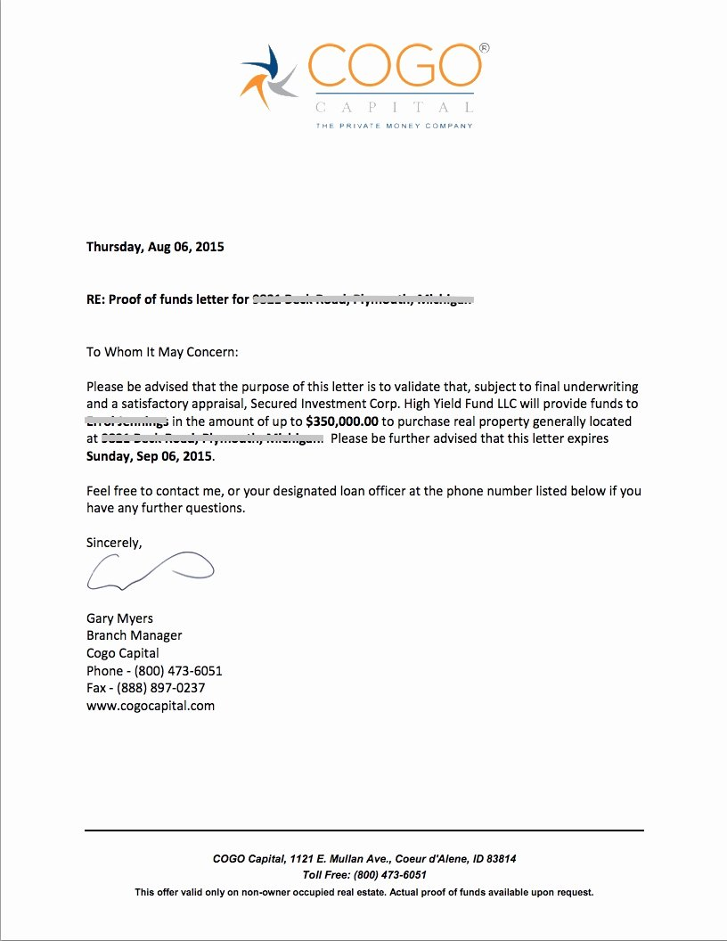 proof of funds letter 2