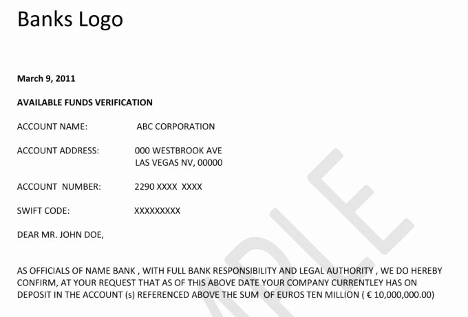 Proof Of Funds Letter Template Best Of Sample Proof Of Funds Letter Template