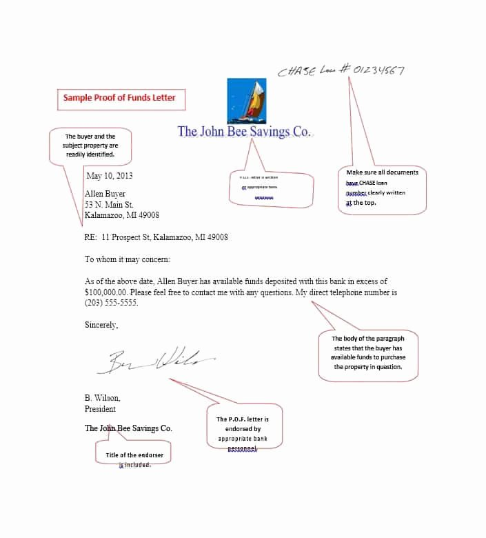 Proof Of Funds Letter Template Unique 25 Best Proof Of Funds Letter Templates Template Lab