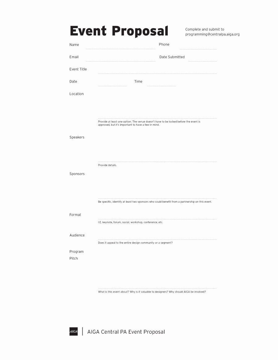 Proposal Outline Template Inspirational 38 Best event Proposal Templates & Free Examples
