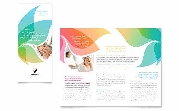 Prospectus Template Word Beautiful Marriage Counseling Tri Fold Brochure Template Design