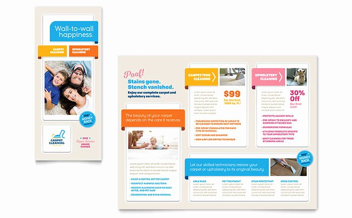 Carpet Cleaning Brochure Template Design HM