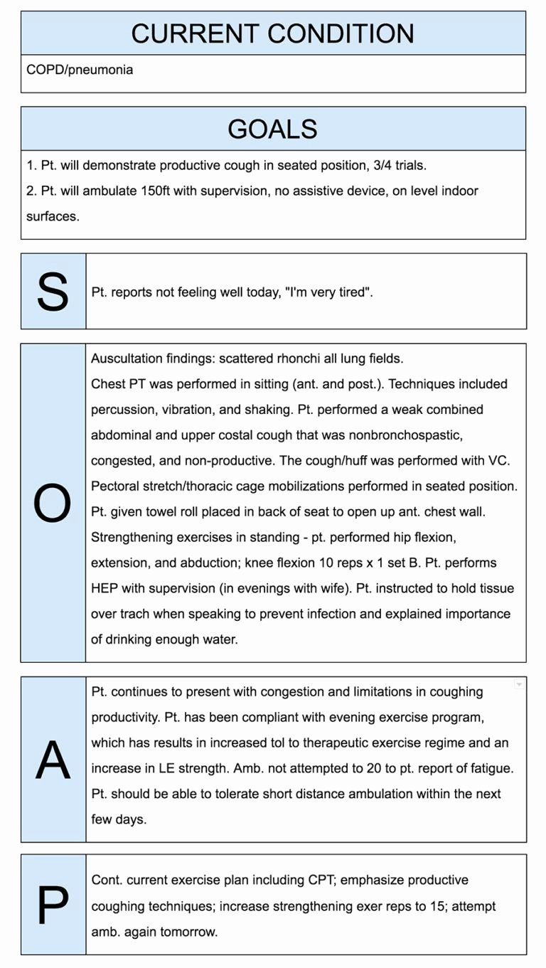 Psychiatric soap Note Example Elegant Physical therapist soap Notes Example Work Job