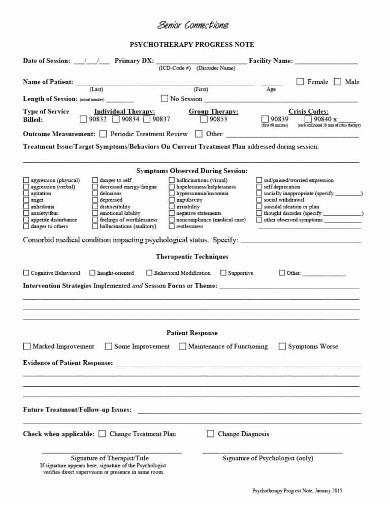 Psychotherapy Progress Note Template Pdf Elegant 43 Progress Notes Templates [mental Health Psychotherapy