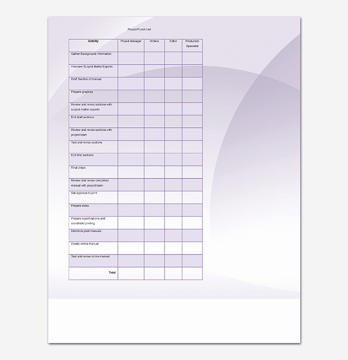 Punch List Template Excel Beautiful Punch List Template 14 Word Excel Pdf format