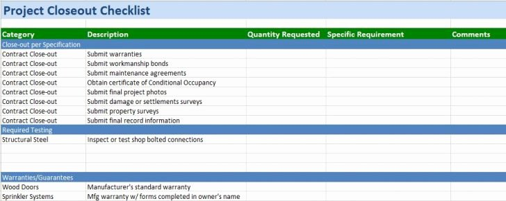 Punch List Template Excel Elegant Project Template Excel Free Download Mexhardware