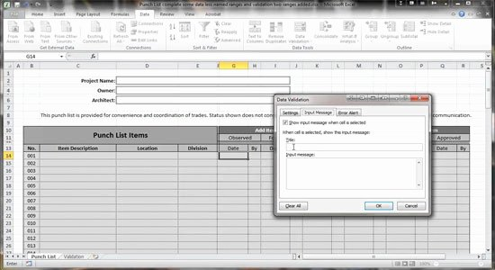 Punch List Template Excel Fresh Excel 2010 Construction Punch List Conditional formatting