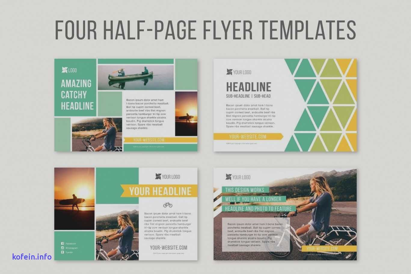 Quarter Sheet Flyer Template Luxury 13 14 Word Quarter Page Template