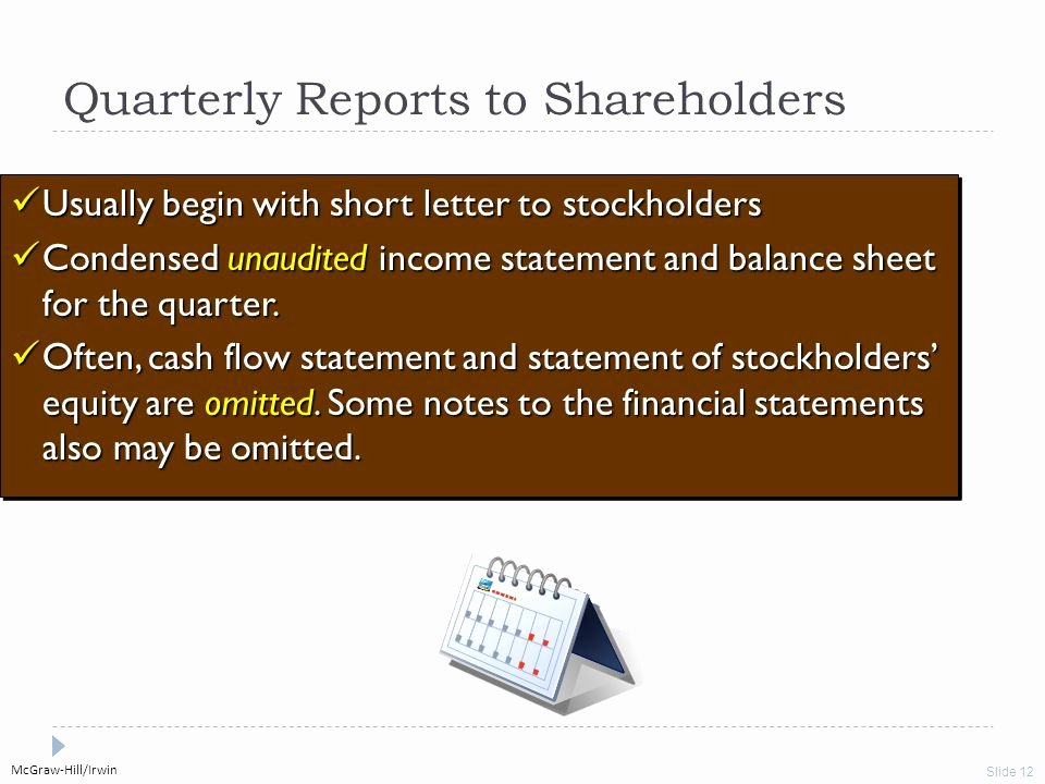 Quarterly Income Statements Luxury Municating and Interpreting Accounting Information