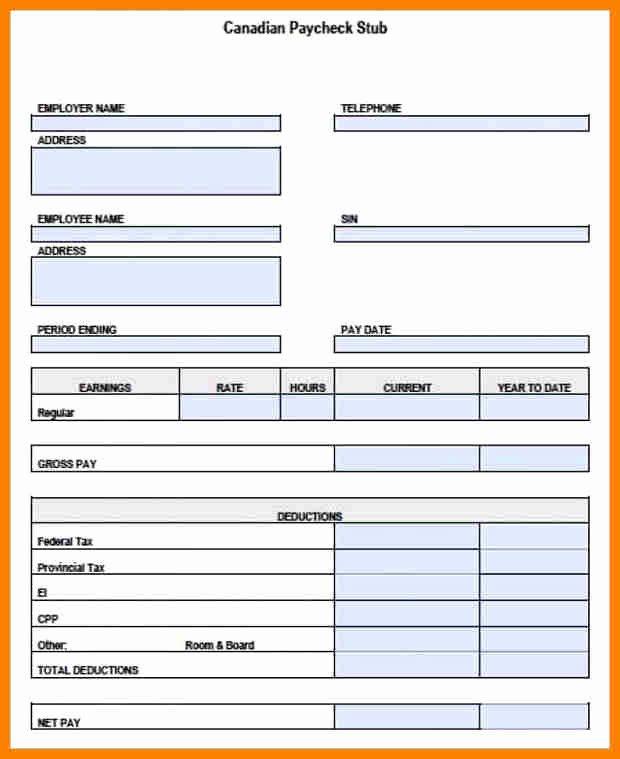 Quickbooks Pay Stub Template Fresh 5 Paycheck Template Pdf