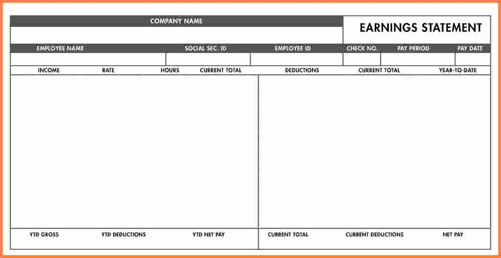 Quickbooks Pay Stub Template Lovely Quickbooks Pay Stub Template