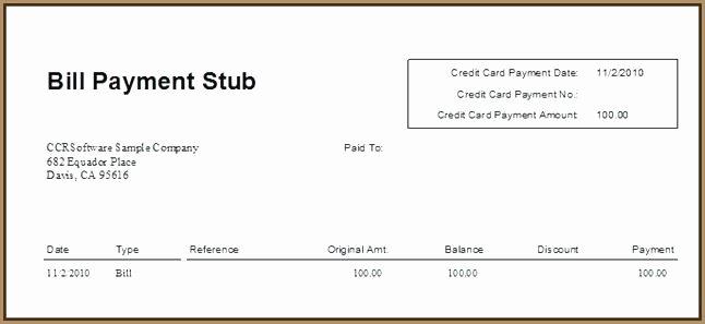 Quickbooks Pay Stub Template New 15 Pay Stub Samples