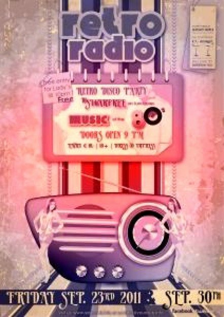 Radio Show format Template Awesome Advertising Radio Flyer Template Vector