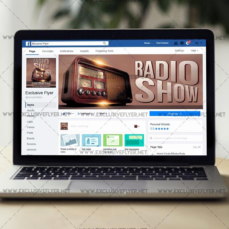 Radio Show format Template Beautiful Radio Show – Premium A5 Flyer Template