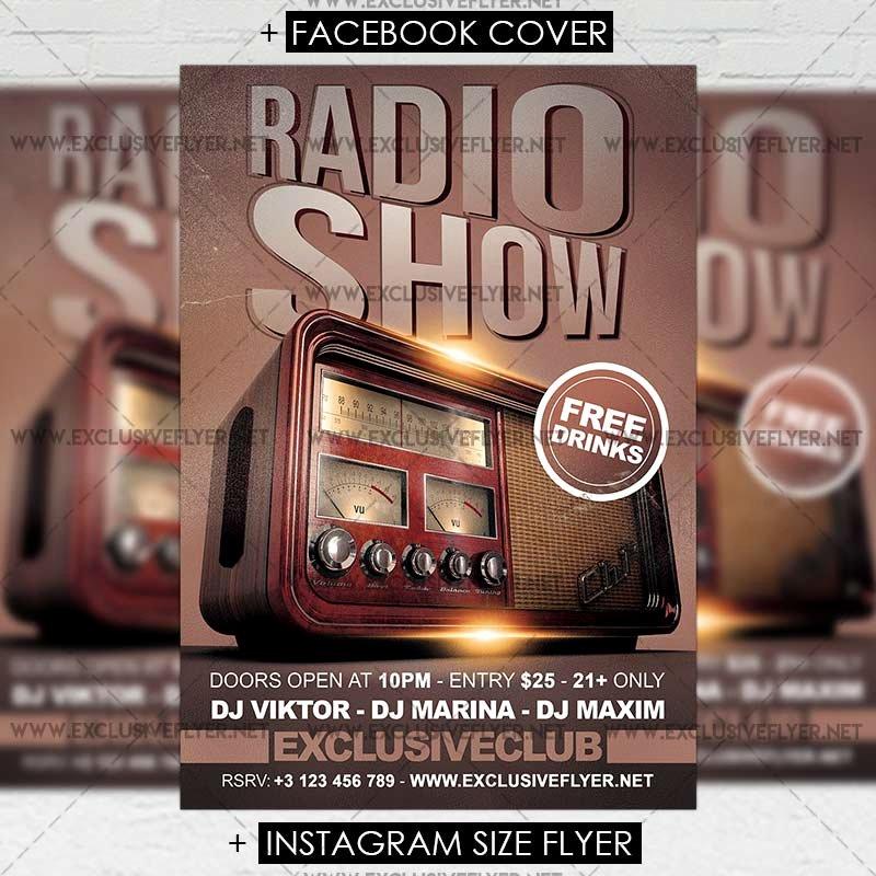 Radio Show format Template Fresh Radio Show – Premium A5 Flyer Template