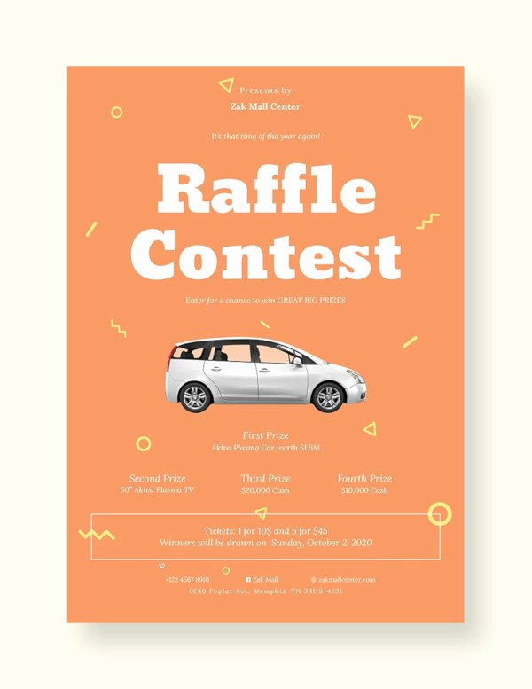 Raffle Flyer Template Free Unique 24 Raffle Flyer Templates Psd Eps Ai Indesign