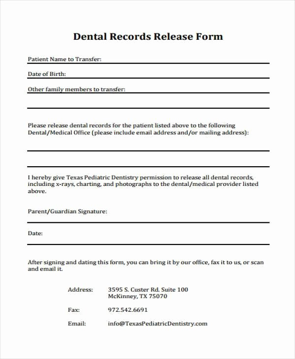 Records Release form Luxury Printable Medical forms