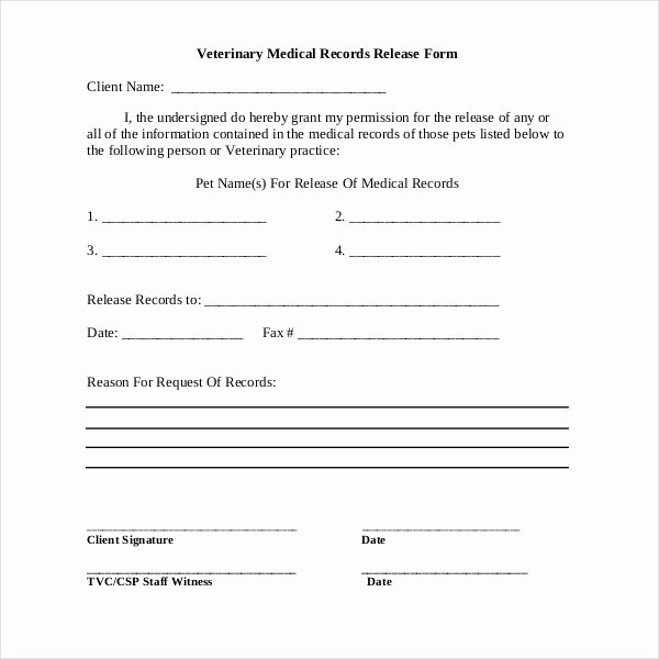 Records Release form New 19 Sample Medical Records Release forms