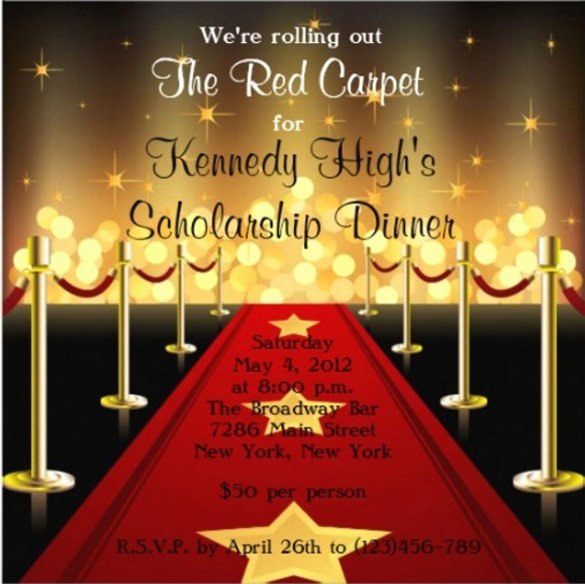 Red Carpet Invitation Template Free Awesome 15 Fundraising Invitation Templates Word Psd Ai Eps