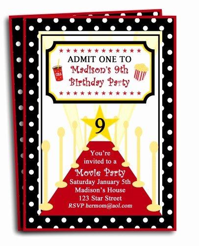 Red Carpet Invitation Template Free Elegant Free Printable Birthday Invitations for Tweens