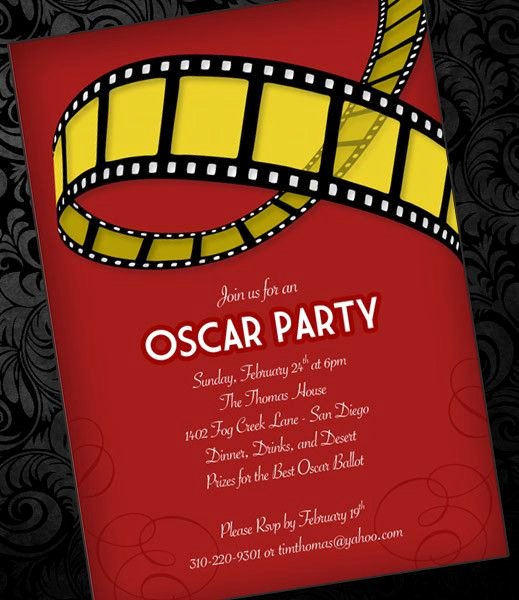 Red Carpet Invitation Template Free Inspirational Oscar Party Invitation Template