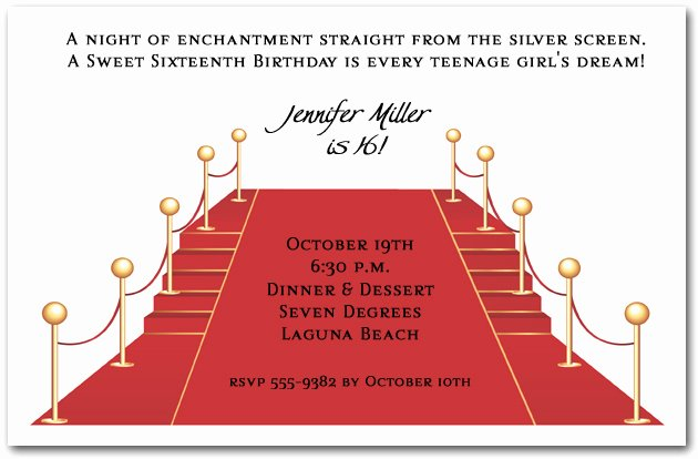 Red Carpet Invitation Template Free Inspirational Red Carpet and Stairs Party Invitations