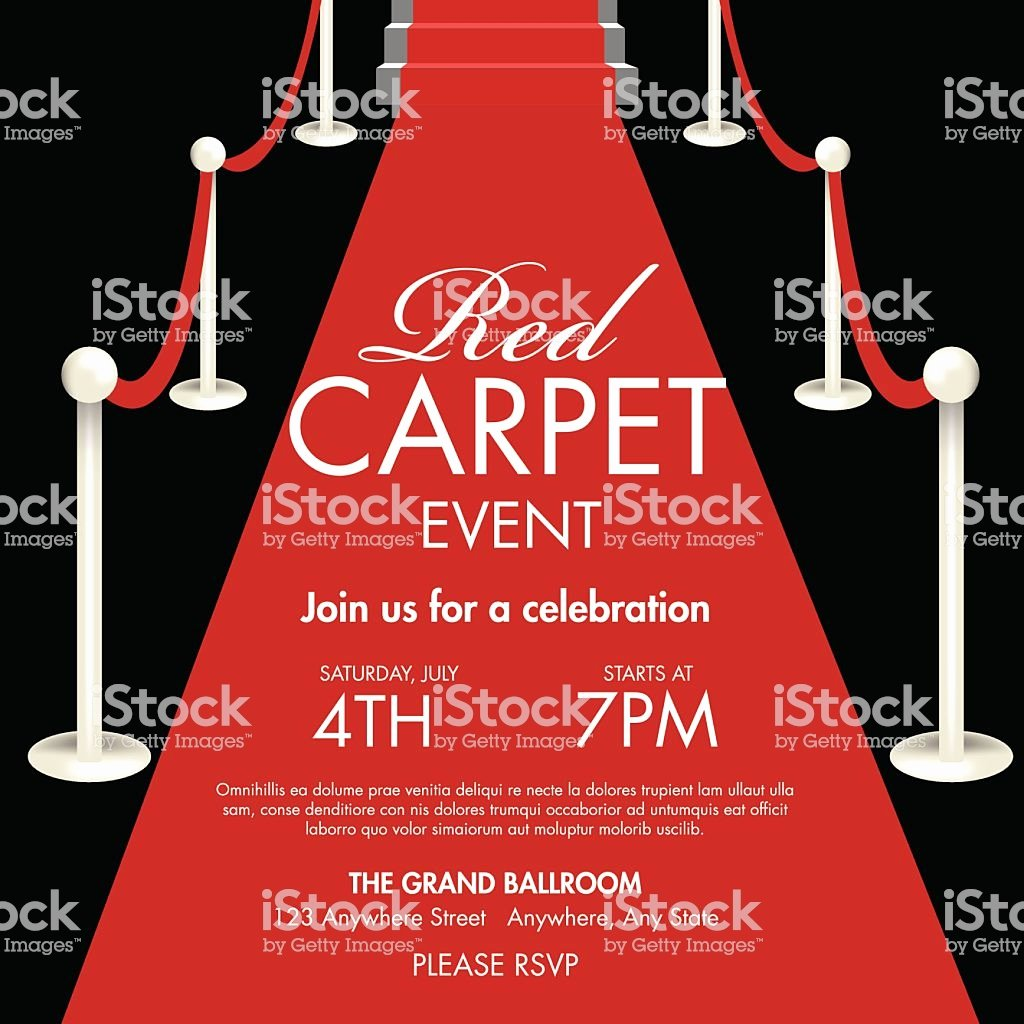 Red Carpet Invitation Template Free Luxury Vintage Style Red and Black Carpet event Ticket Invitation