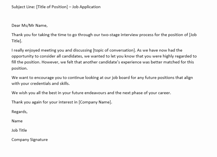 Rejection Letter for Internal Candidate Elegant How to Write A Rejection Letter after An Interview Samples
