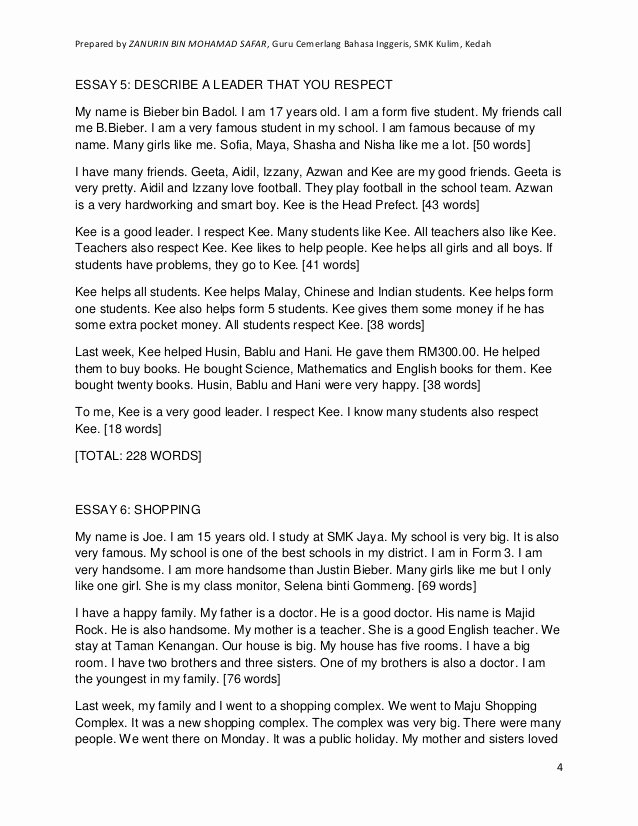 Respect Essay for Kids Beautiful Essay for Weak Students