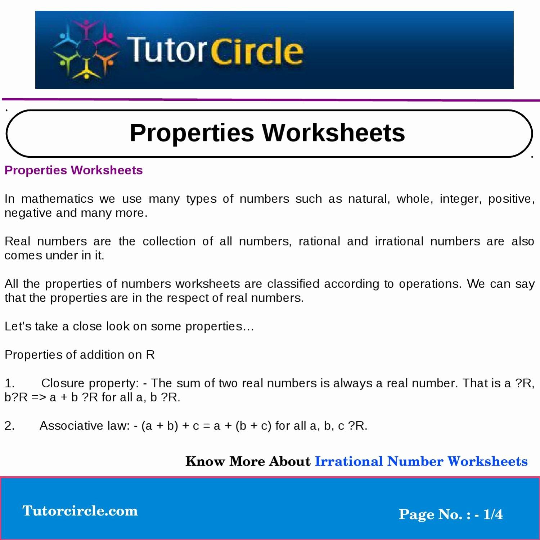 Respecting Others Property Worksheet Elegant Properties Worksheets by Yatendra Parashar issuu
