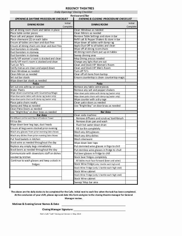 Restaurant Manager Log Book Template Elegant Kitchen Cleaning Checklist Template
