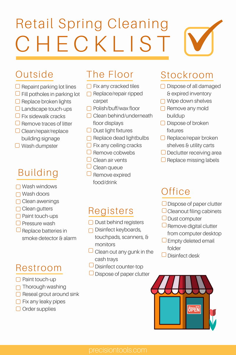ultimate retail spring cleaning checklist