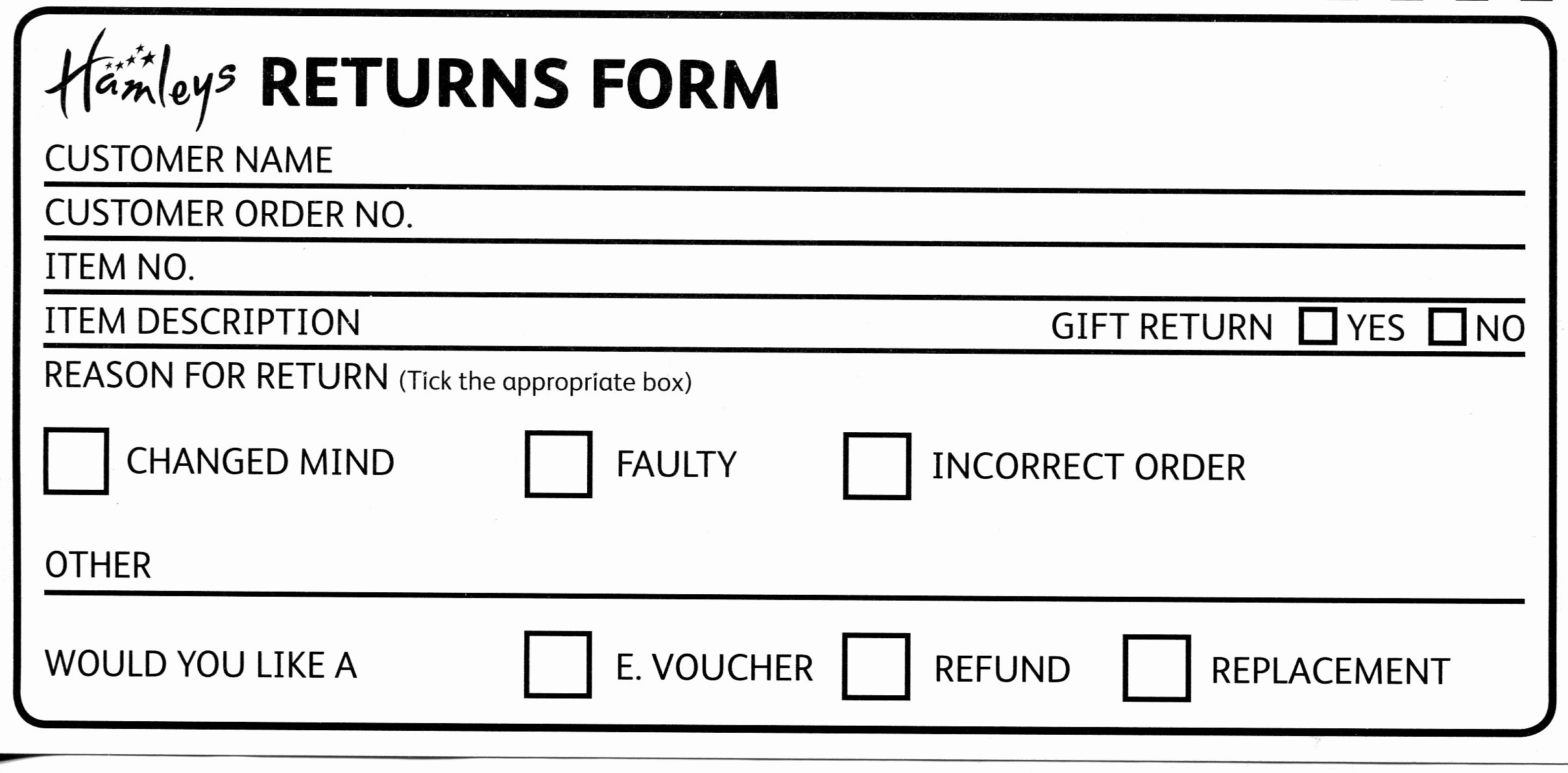 Return Policy Template Word Unique Our Returns Policy Hamleys