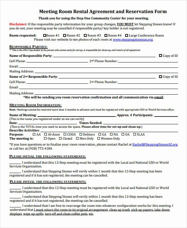 Room Rental Agreement California Free form Awesome Basic Agreement form