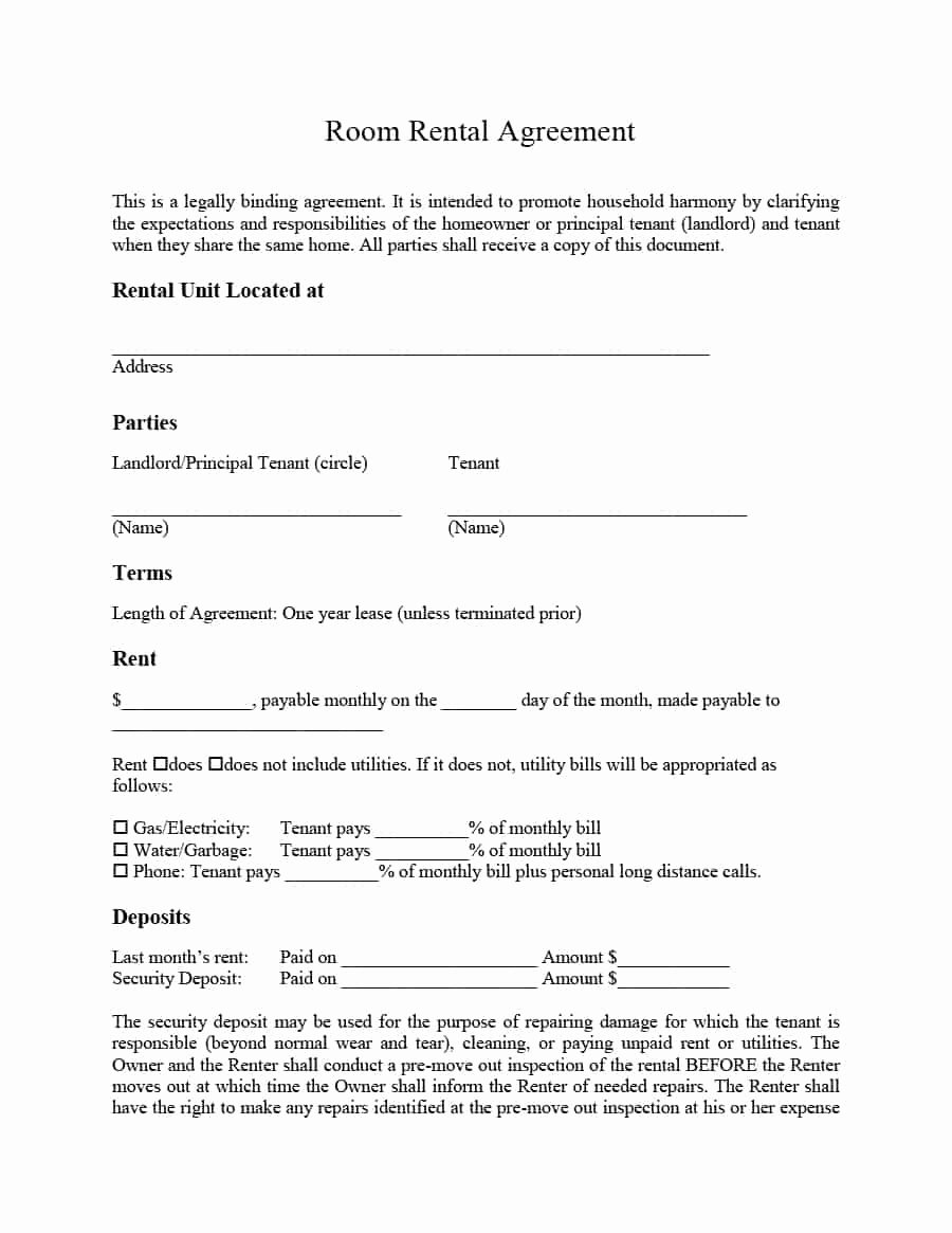Room Rental Agreement California Free form Best Of 39 Simple Room Rental Agreement Templates Template Archive