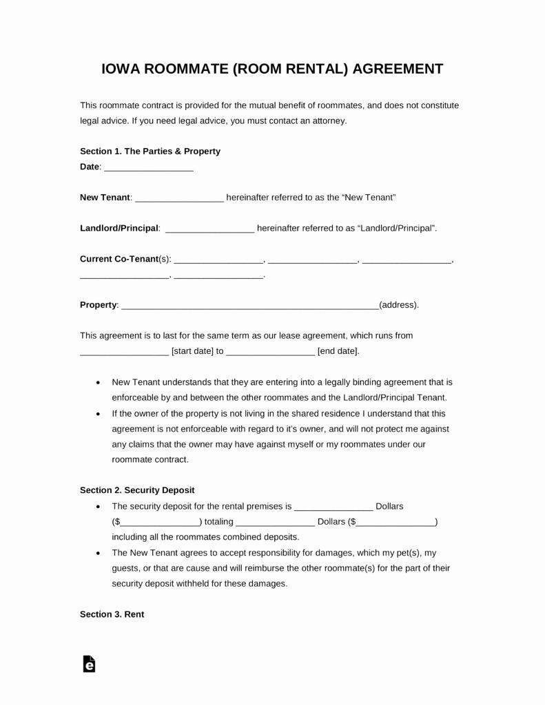 Room Rental Agreement California Free form Fresh Free Kansas Room Rental Roommate Agreement form Pdf